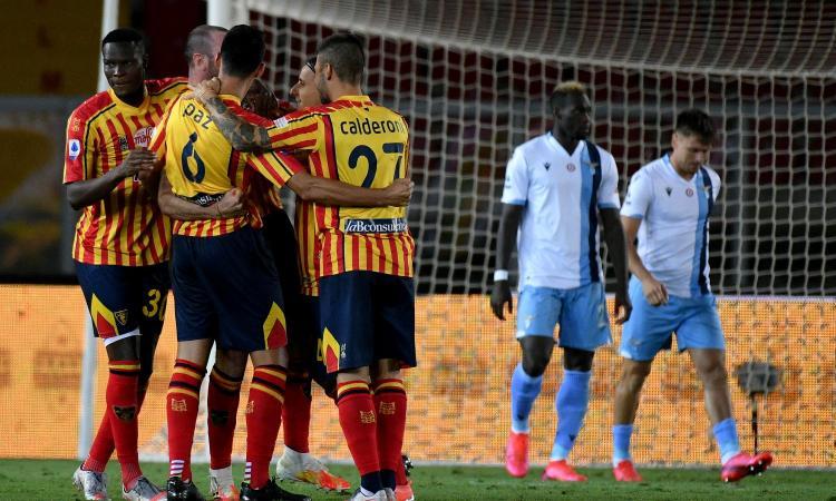 Lazio nervosa e sconfitta: 2-1 Lecce in rimonta, secondo ko consecutivo