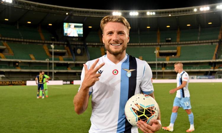 Lazio, Immobile si allena in gruppo. Da Marusic a Luis Alberto, le prove di formazione