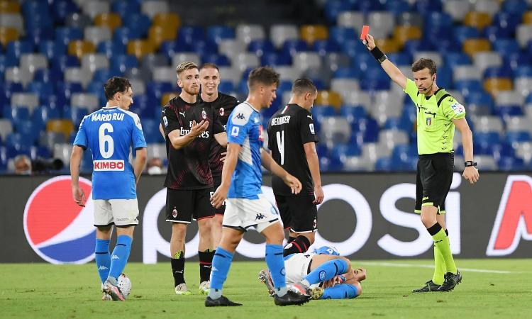 Napoli-Milan, rivivi la MOVIOLA: Maksimovic-Bonaventura, rigore netto nonostante le proteste. Rosso a Saelemaekers