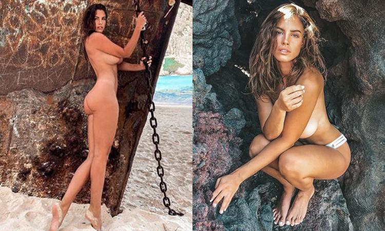 Lucia Javorcekova completamente nuda su un'isola deserta: 'Cast away' FOTO