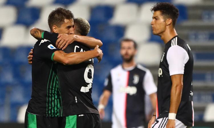 Sassuolo-Juve, le pagelle di CM: Szczesny prende 3 gol, ma è il migliore dei suoi. Ronaldo insufficiente