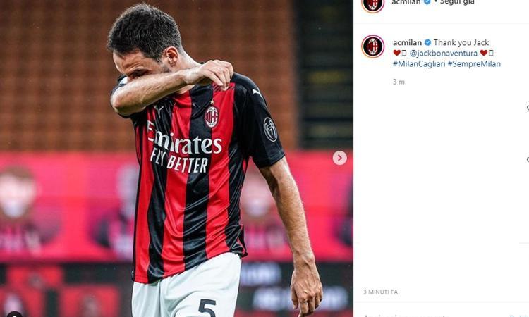 Milan, Bonaventura dice addio dopo sei anni: Jack in lacrime in un San Siro deserto