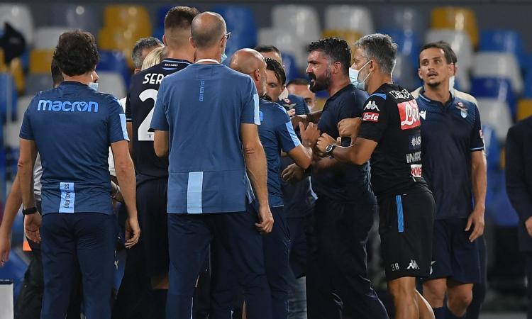 Napoli, lite tra Gattuso e un collaboratore di Inzaghi: 'Terrone di m...a? Dimmelo in faccia!'