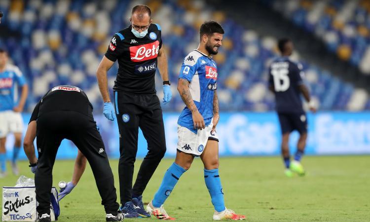 Napoli-Lazio, gioie e dolori: Immobile fa 36 come Higuain, Insigne va ko. Esce in lacrime, Barcellona a rischio