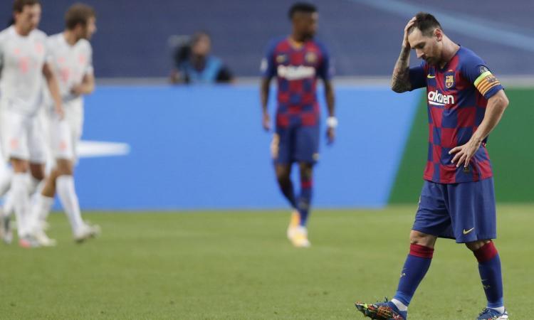 Il Bayern passeggia sulle macerie del Barcellona: squadra indegna di Messi, ora rischia una rivoluzione senza Leo