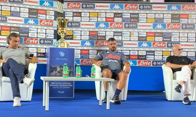 Napoli, pace fatta tra Gattuso e De Laurentiis. Ma a giugno si cambia: 5 nomi per la panchina