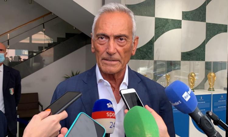 Gravina: 'Mancini ha ridato dignità al calcio italiano. Rinnovo? Non ci saranno problemi'