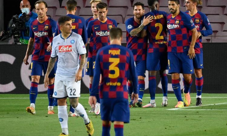 Troppo Messi per il Napoli: Barcellona ai quarti contro il Bayern, il 3-1 elimina Gattuso