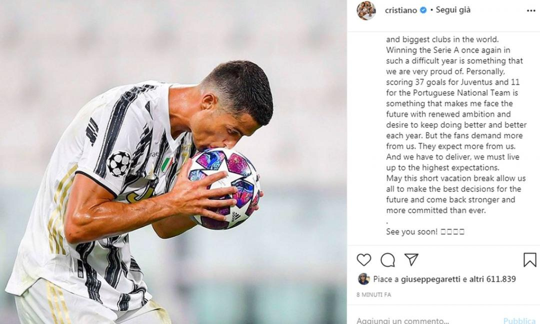 Altroché PSG: Ronaldo e la Juve ancora insieme!