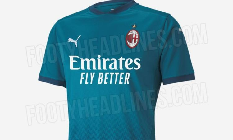 Milan, ecco la terza maglia 2020/21: sarà blu come nel '95 FOTO