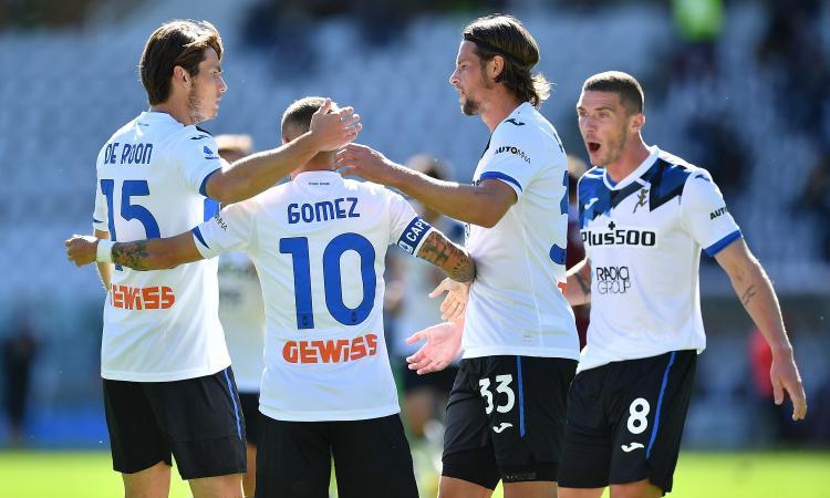 Doppio Belotti non basta, Gomez e Muriel lanciano l'Atalanta: 4-2 al Torino, Giampaolo ancora ko