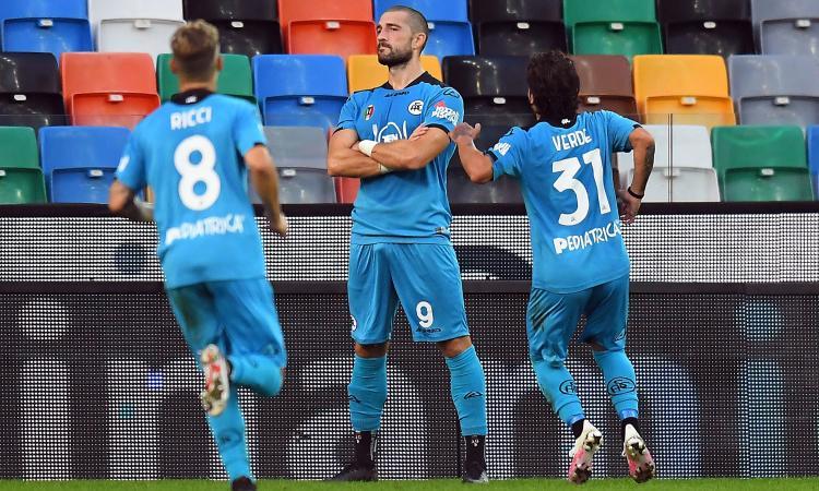 Doppio Galabinov, lo Spezia vince a Udine