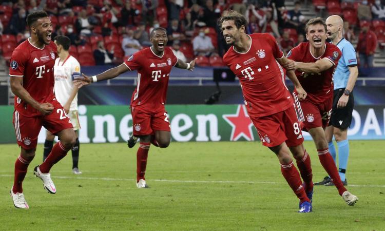 Il Bayern Monaco vince anche la Supercoppa Europea: è 2-1 al Siviglia, decide ancora Javi Martinez