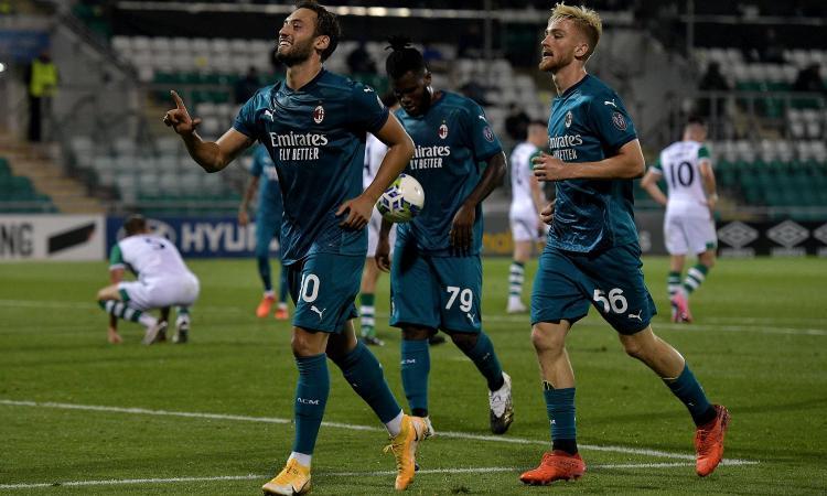 Europa League, il Milan non sbaglia: 2-0 allo Shamrock, giovedì prossimo il Bodo Glimt a San Siro