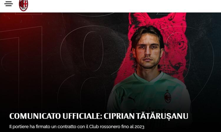 Tatarusanu: 'Il Milan sta facendo cose importanti. Chiudere qui la carriera? Perché no. Sì ai tifosi negli stadi'