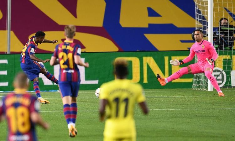Liga: Atletico 6-1, doppietta al debutto per Suarez. Tris Siviglia, poker Barça: Ansu Fati show e gol di Messi