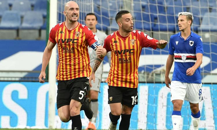 Serie A, Caldirola e Letizia ribaltano la Samp: 3-2 per il Benevento di Inzaghi. La Lazio parte bene: 2-0 al Cagliari