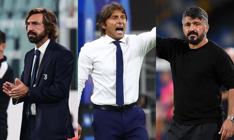 La novità: Pirlo, Conte e Gattuso tutti all'attacco. Ma Juve e Inter sono andate allo sbaraglio