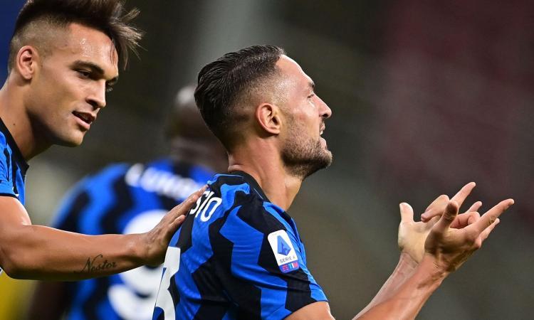 Gemelli D'Ambrosio, weekend agli opposti: Danilo segna per l'Inter, Dario espulso con la Samb