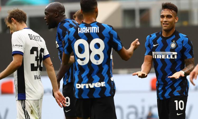 Inter: Lautaro ed Eriksen mattatori nel 7-0 al Pisa con mille spettatori a San Siro VIDEO