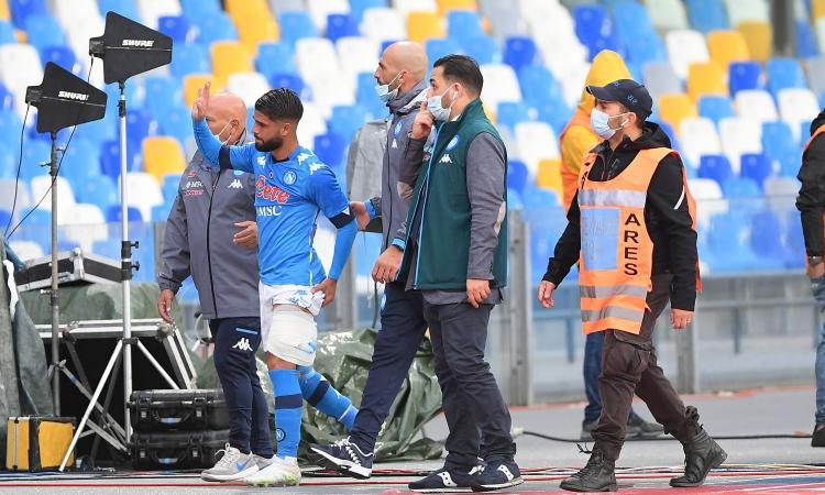 Napoli, UFFICIALE: lesione del bicipite femorale per Insigne, salta la Juventus. I tempi di recupero