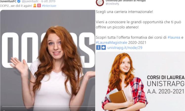 The Little Squirrel, la stessa modella sui social di Juve e Università per Stranieri di Perugia FOTO e VIDEO