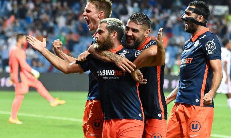 Ligue 1: il Lione va ko, 2-1 Montpellier. Super Savanier, espulso Aouar VIDEO