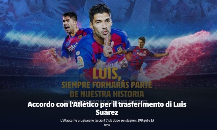 Barcellona, UFFICIALE: Suarez va all'Atletico. Le cifre