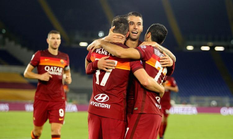 Roma, le pagelle di CM: Veretout fa male. Dzeko, rimpianto a metà. Male Mancini