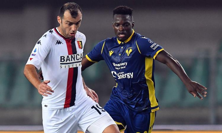 Un Genoa rimaneggiato strappa un punto a Verona: finisce 0-0, l'Hellas aggancia Inter e Roma