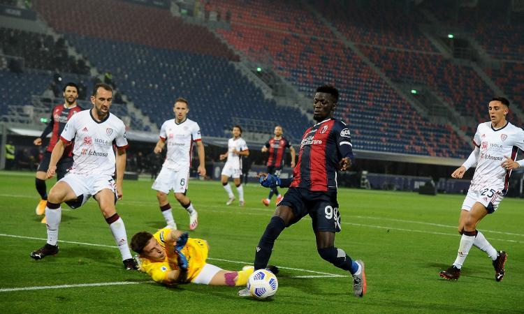 Bologna, Barrow: 'Finalmente i gol! Palacio mi insegna tante cose'