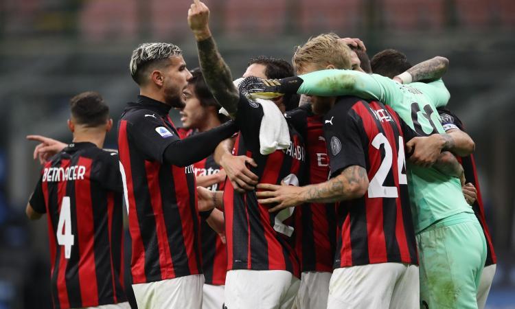 Milan, gestaccio di Calabria verso gli spalti dopo la vittoria del derby FOTO
