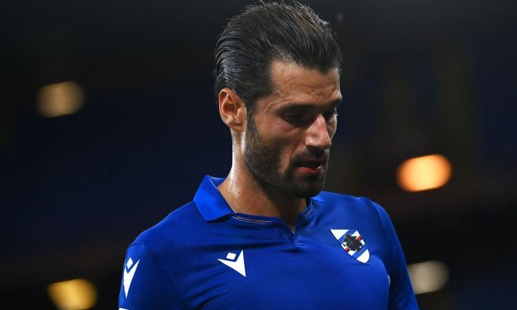 Sampdoria, infortunio Candreva: punta il derby, ma è a forte rischio