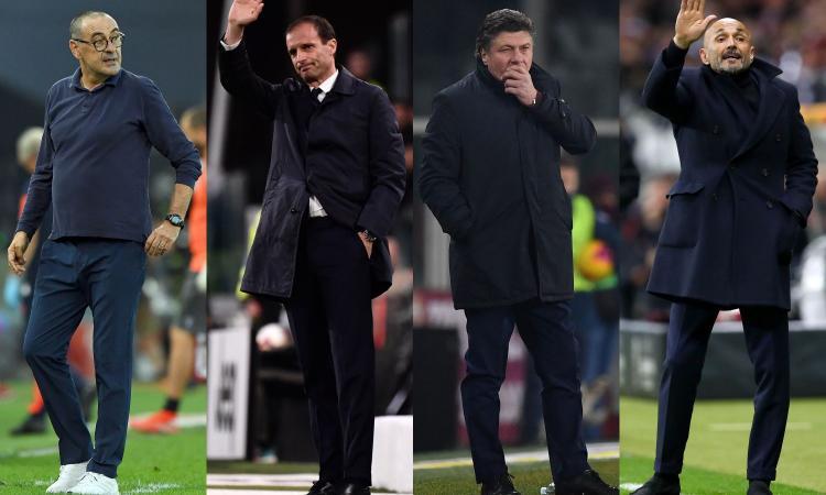 Quanto manca la panchina: Sarri tratta la risoluzione con la Juve, Allegri aspetta il PSG, Mazzarri idea Viola. E Spalletti...