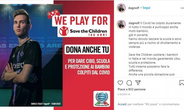Esports e beneficenza: da Campagnani a Guarracino e Tealdi, i migliori gamer italiani in campo per Save the Children
