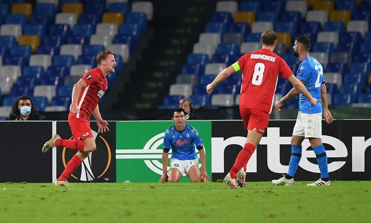 Europa League, Napoli-AZ 0-1: la decide De Wit