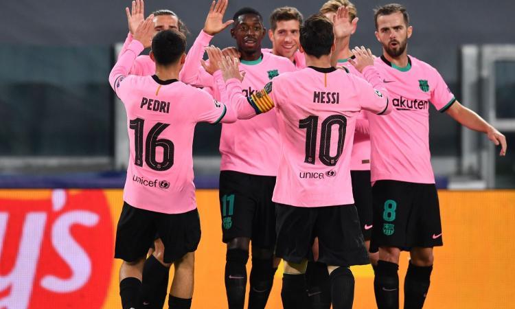 Dembélé-Messi, una brutta Juve va ko contro il Barcellona