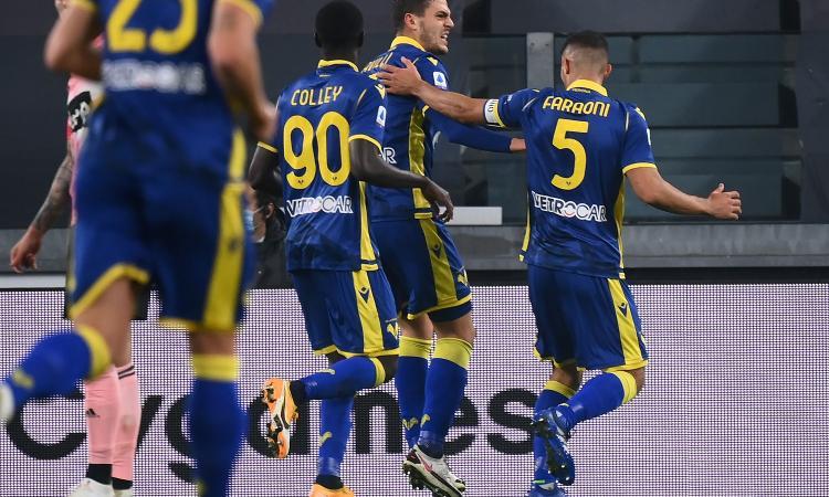 Altro passo falso per la Juve di Pirlo: solo 1-1 in casa con il Verona, segnano Favilli e Kulusevski