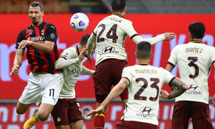 Tanti gol, errori e spettacolo: fra Milan e Roma finisce 3-3