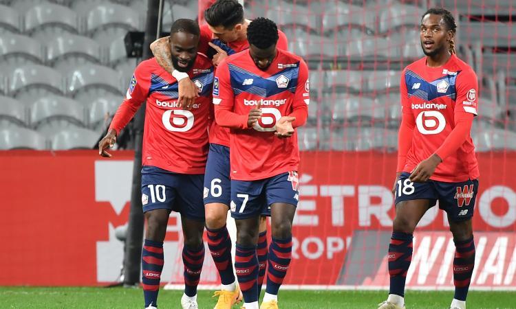 Ligue 1: il Lille ne fa 4 al Lens e vola in vetta alla classifica. Vincono Nizza e Lione, debuttano Paquetà e De Sciglio
