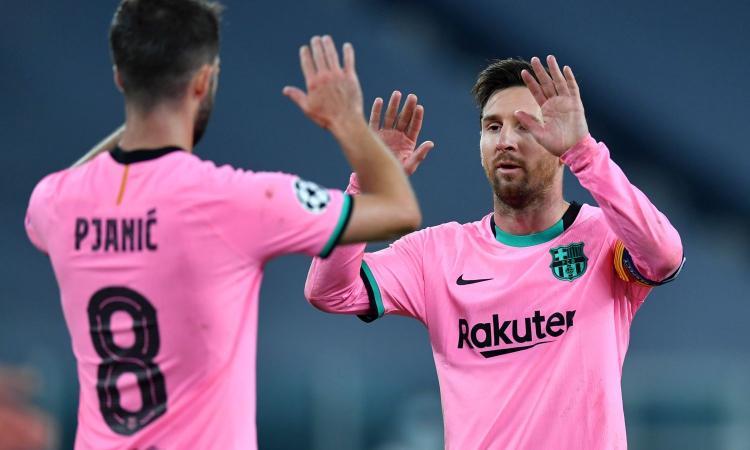 Il Barcellona punge la Juve e Ronaldo: 'Avete visto il più grande di sempre nel vostro stadio'