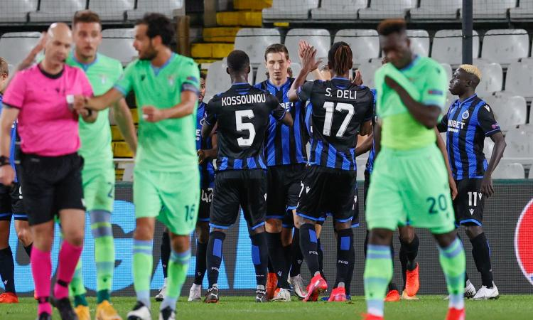 Correa non basta a una Lazio decimata: 1-1 in casa del Bruges