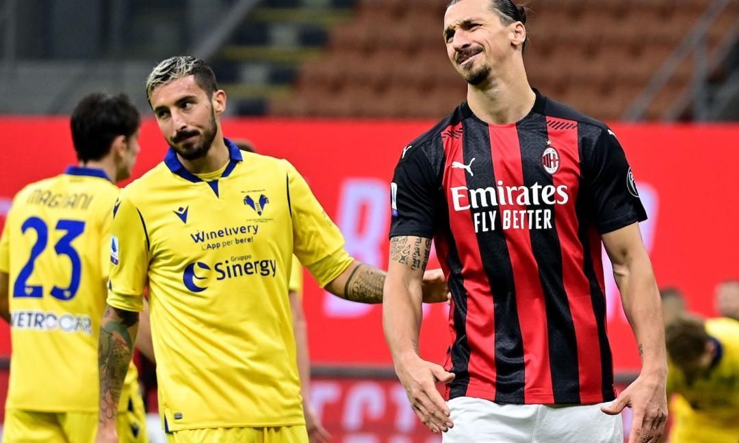 Milan di carattere, ma il Verona strappa il punto