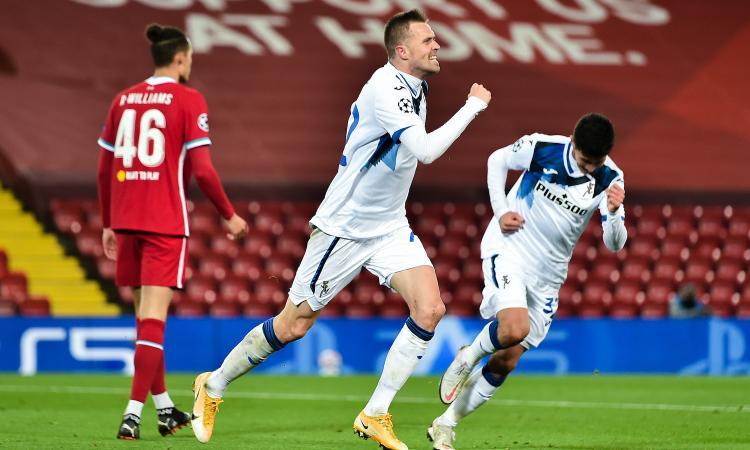 Impresa Atalanta ad Anfield: è 2-0 con il Liverpool, Ilicic ritrova il gol