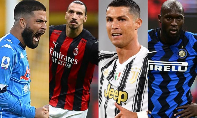Serie A: Napoli-Milan partita da fuochi d'artificio, Ronaldo a caccia di record, l'Inter vuole evitare un altro 1983-84