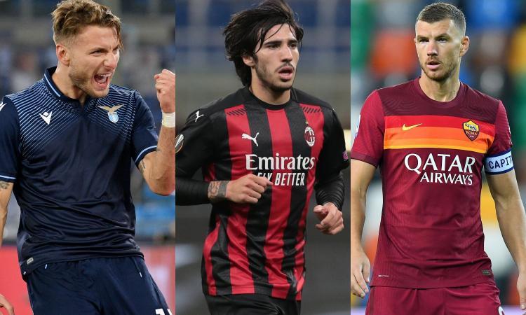 Serie A, oggi 5 partite: in campo Lazio, Milan e Napoli-Roma. Le probabili formazioni e dove vederle in tv