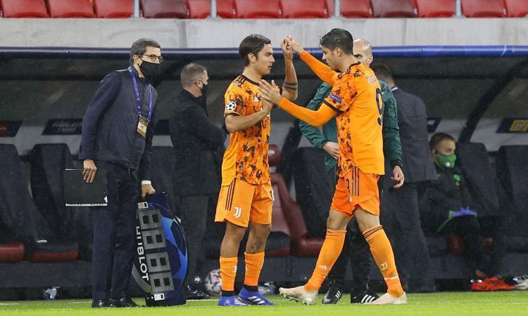 Juve, così è troppo facile: bastano Morata e la riserva Dybala, a Torino match point per gli ottavi