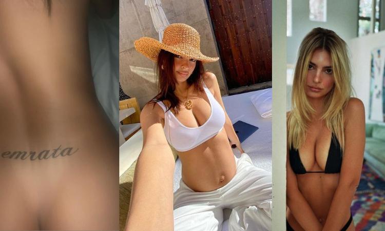 Emily Ratajkowski incinta, il pancione cresce e il seno... esplode! FOTO