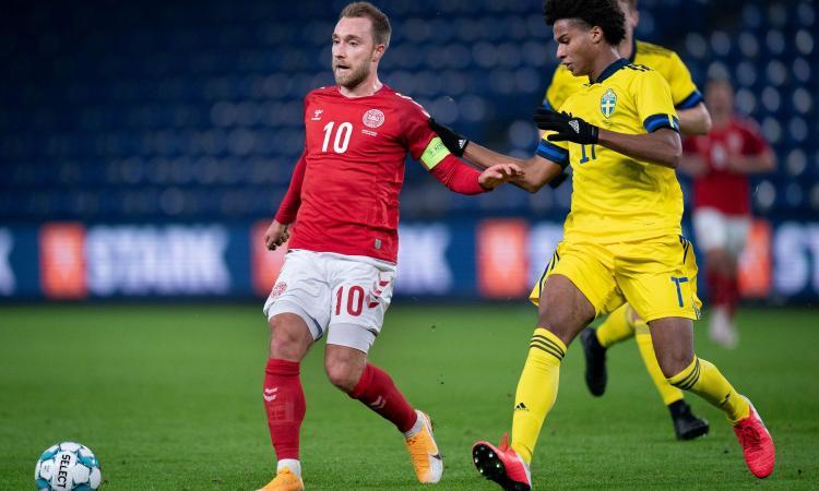 Inter, Eriksen titolare con la Danimarca: non lascia il segno