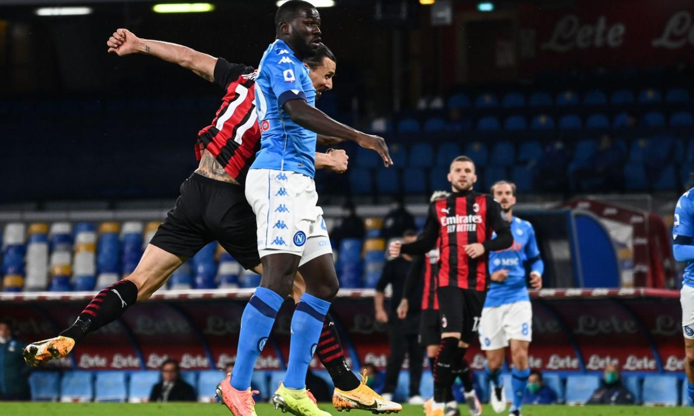 Napoli-Milan 0-1 al 45'. Super gol di Ibra | Primapagina | Calciomercato.com